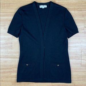 St. John Collection Santana Black Cardigan Sweater